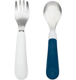 Oxo Oxo Tot Fork & Spoon Set - Navy