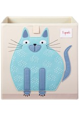 3 Sprouts Storage Box, Blue Cat