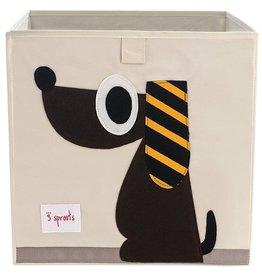 3 Sprouts Storage Box, Brown Dog