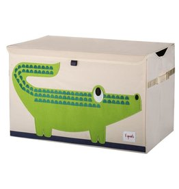 3 Sprouts Toy Chest, Green Crocodile