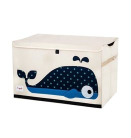 3 Sprouts Toy Chest, Blue Whale