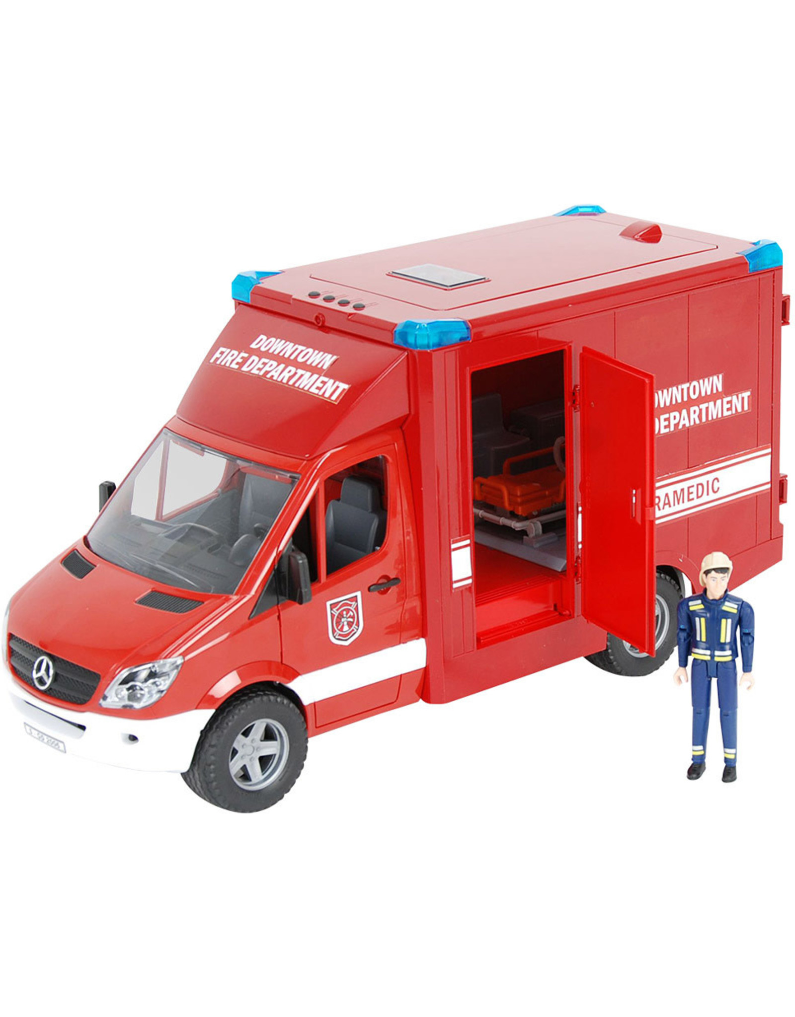 Bruder Toys America Inc MB Sprinter Fire Department Paramedic with Driver and Accessories