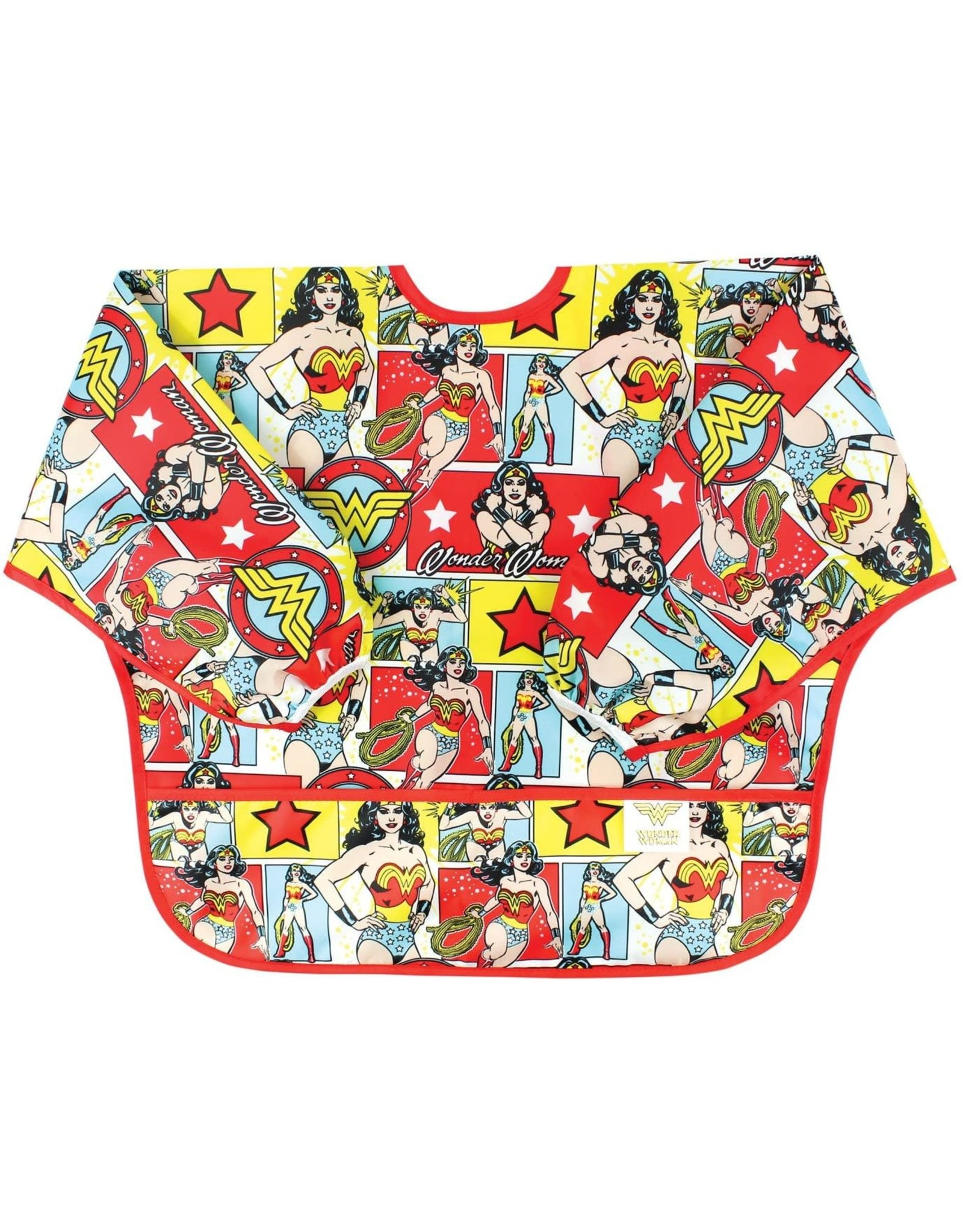 Bumkins Bumkins Sleeve Bib, Wonder Woman