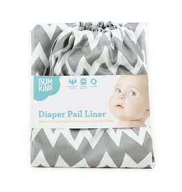 Bumkins Bumkins Diaper Pail Liner, Grey Chevon