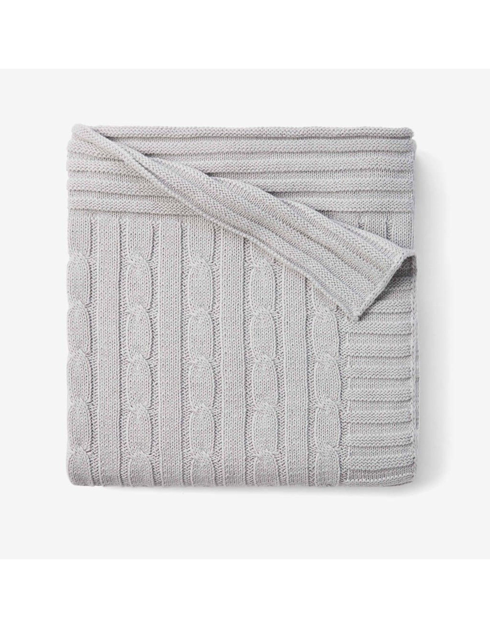 Child To Cherish Child To Cherish Cable Knit Blanket, Grey