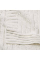 Child To Cherish Child To Cherish Cable Knit Blanket, White