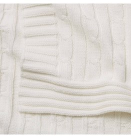 Child To Cherish Child To Cherish Cable Knit Blanket, White