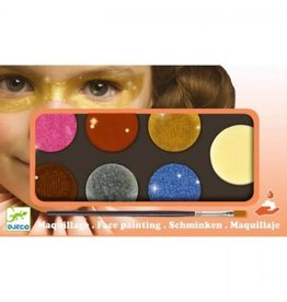 Djeco Make Up, 6 Colours, Metallic