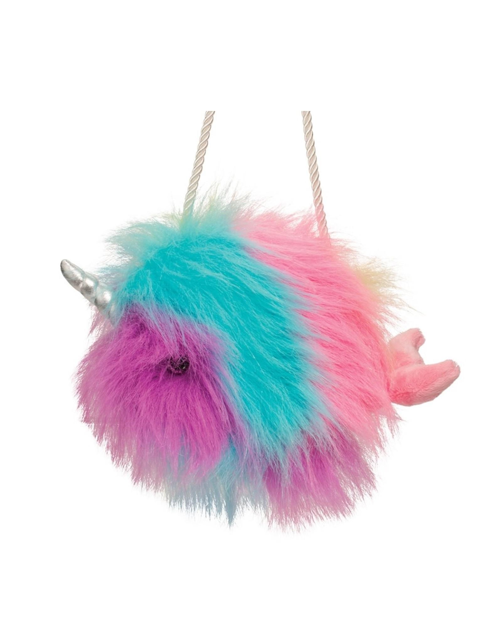 Douglas Toys Narwhal Fur Fuzzle Crossbody Purse