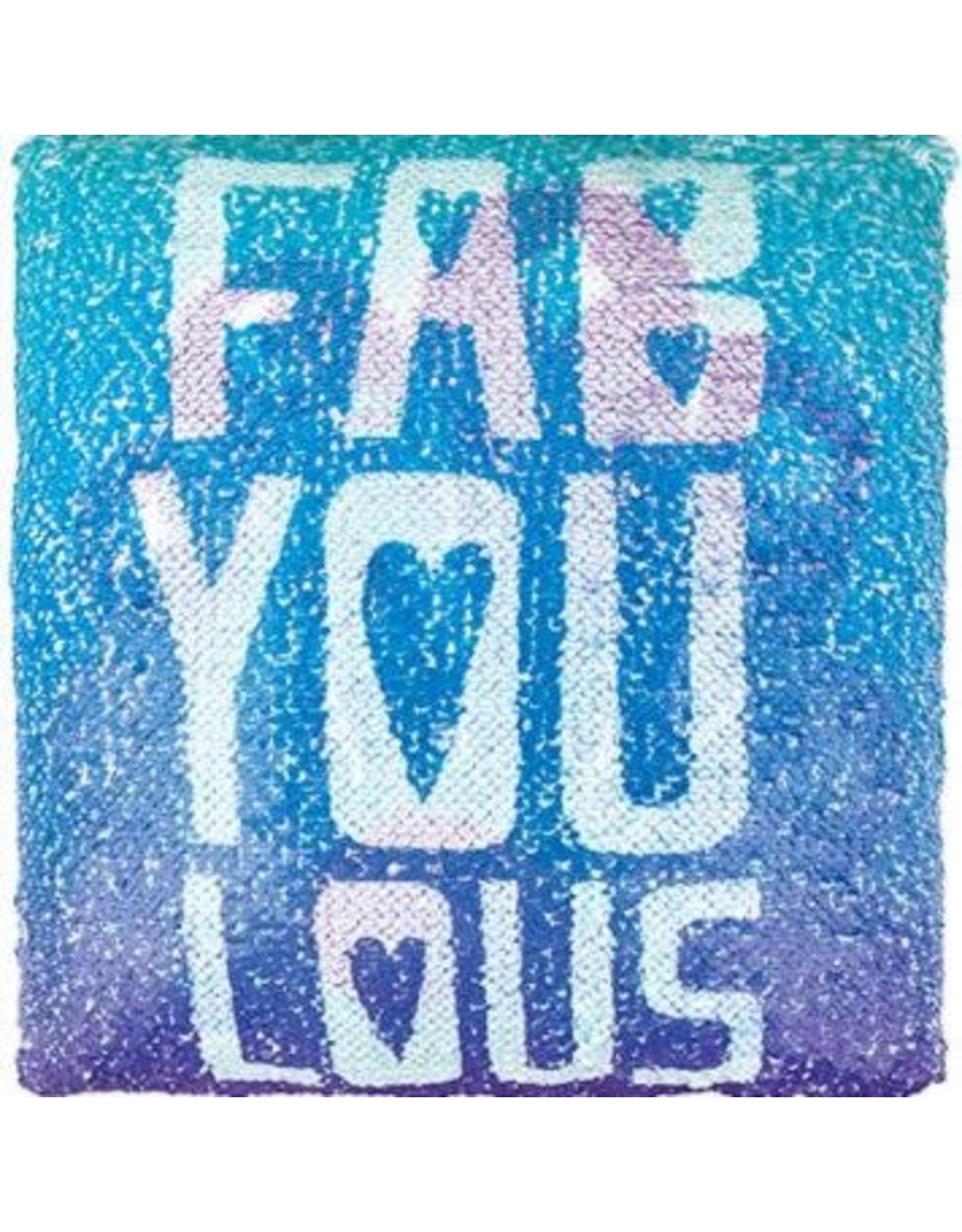 Fashion Angels Magic Sequin Printed Pillow, FAB-YOU-LOUS