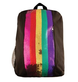 Fashion Angels Rainbow Sequin Stripe Backpack