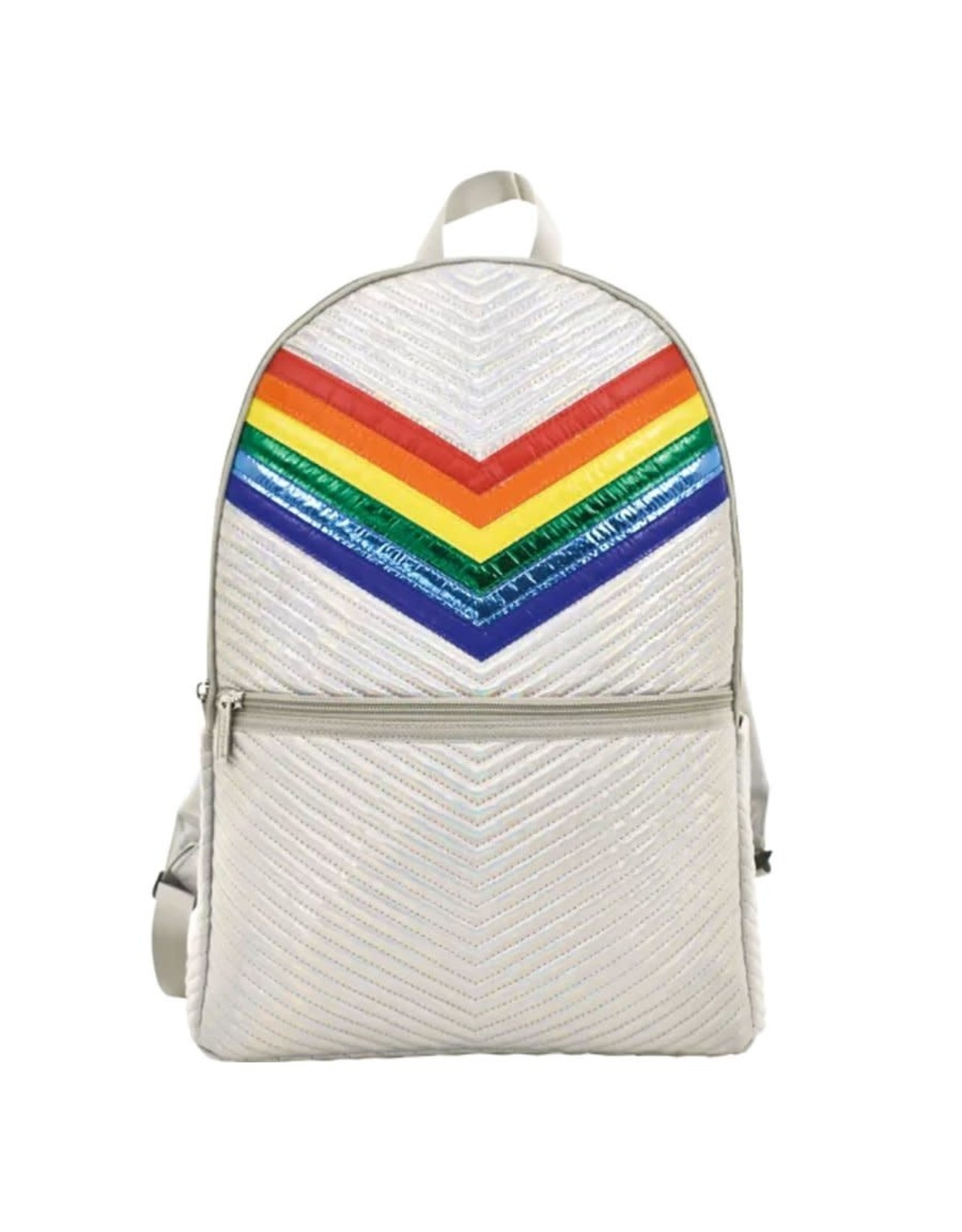 Iscream Backpack, Silver Chevron
