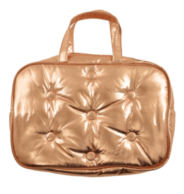 Iscream Cosmetic Bag, Copper Metallic Tufted, Large