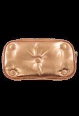 Iscream Cosmetic Bag, Copper Metallic Tufted