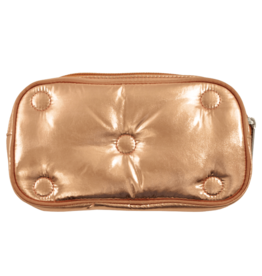 Iscream Cosmetic Bag, Copper Metallic Tufted