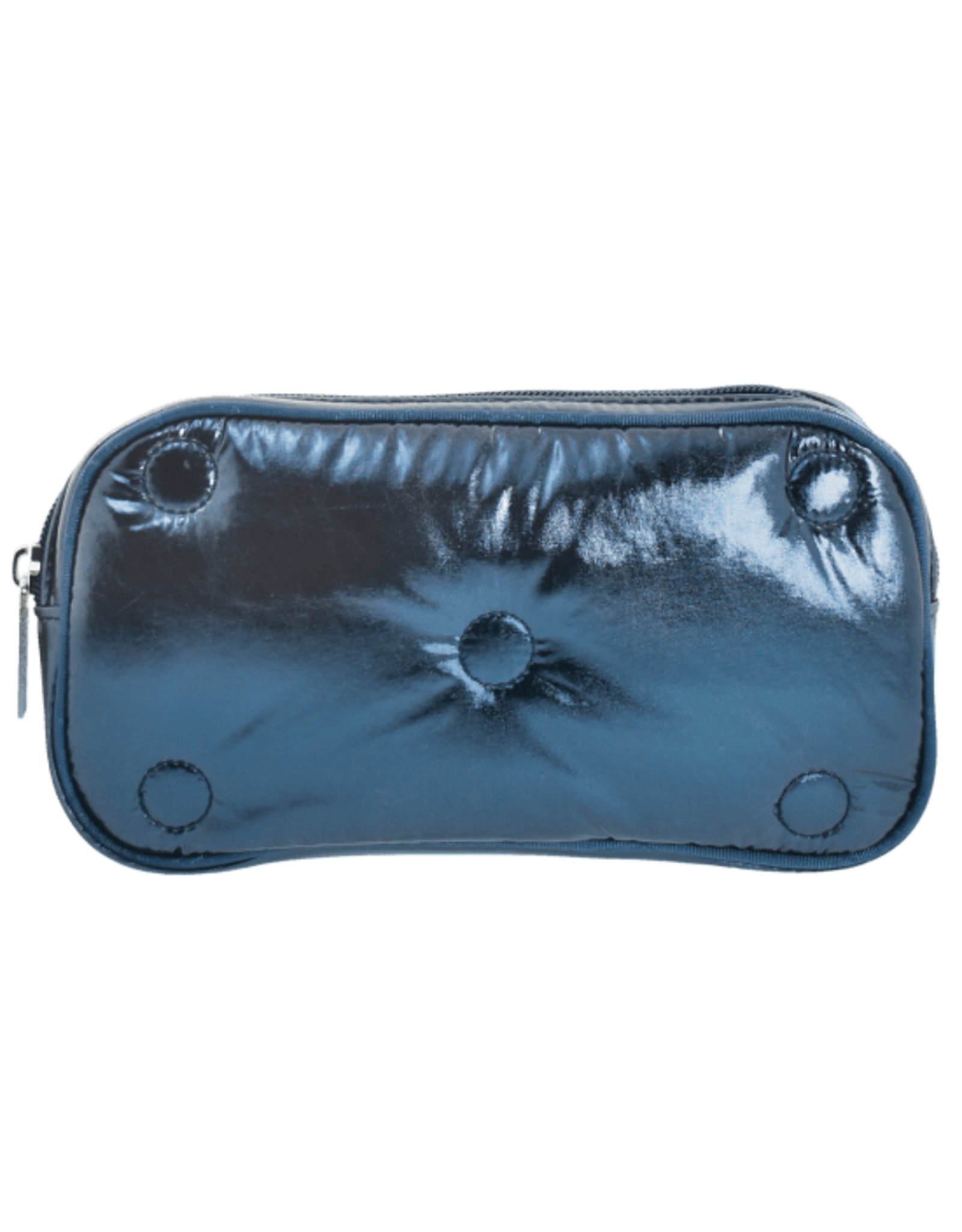 Iscream Cosmetic Bag, Blue Metallic Tufted
