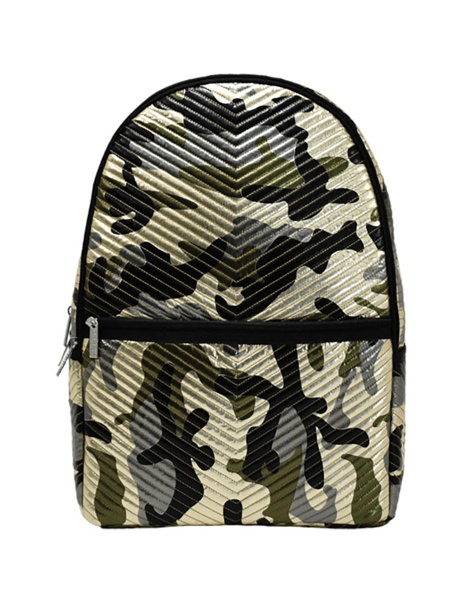Iscream Backpack, Metallic Camo Chevron