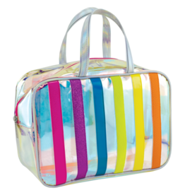 Iscream Cosmetic Bag, Iridescent Stripe, Large