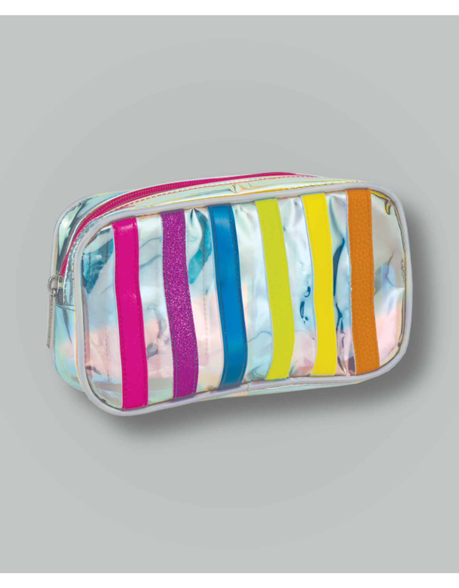 Iscream Cosmetic Bag, Iridescent Stripe