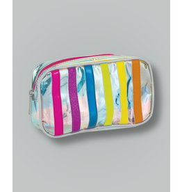 Iscream Cosmetic Bag, Iridescent Stripe