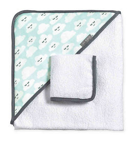 JJ Cole Hooded Towel Set, Cloudy Smiles