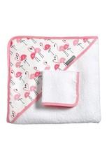 JJ Cole Hooded Towel Set, Flamingo
