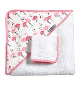 JJ Cole Hooded Towel Set, Flamingo
