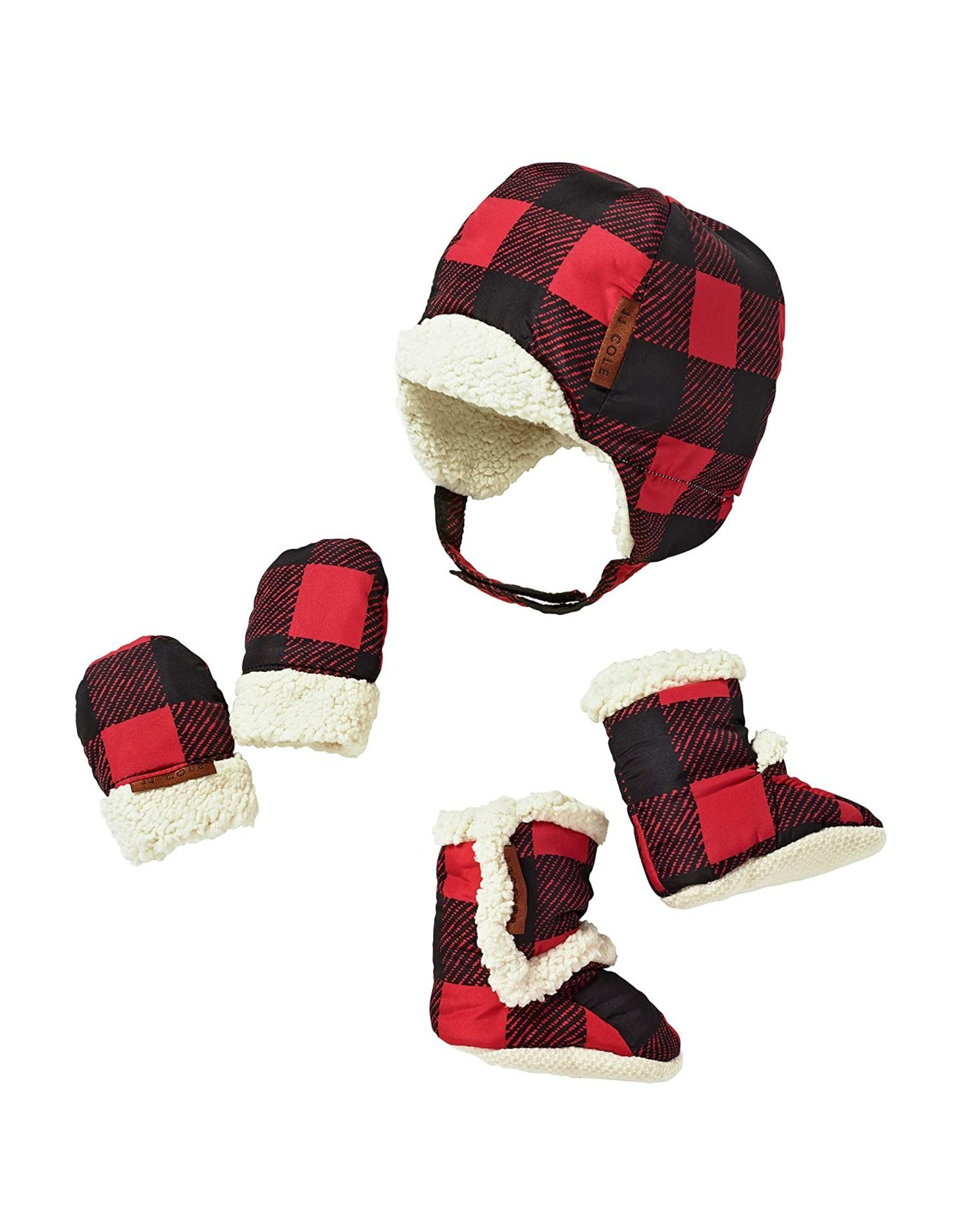 JJ Cole Bomber Hat Set, Buffalo Check