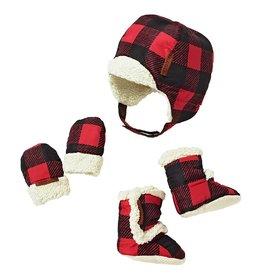 JJ Cole Bomber Hat Set, Buffalo Check