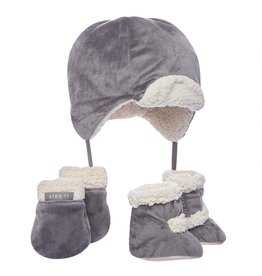 JJ Cole Bomber Hat Set, Graphite