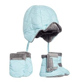 JJ Cole Bomber Hat Set, Aqua