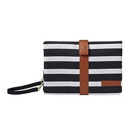 JJ Cole Changing Clutch, Black & White Stripe