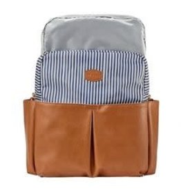 JJ Cole Popperton Backpack, Cognac Stripe
