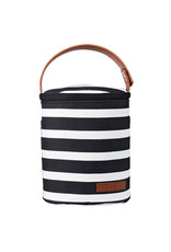 JJ Cole Bottle Cooler, Black & White Stripe