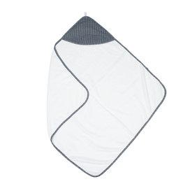 Juddlies Juddlies Bamboo Hooded Towel, White/ Lake Blue