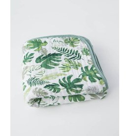 Little Unicorn, LLC Cotton Muslin Quilt, Tropical Leaf