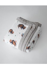 Little Unicorn, LLC Cotton Muslin Big Kid Quilt, Bison