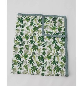 Little Unicorn, LLC Cotton Muslin Big Kid Quilt, Tropical Leaf