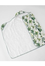 Little Unicorn, LLC Cotton Hooded Towel Big Kid, Tropical Leaf