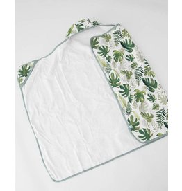 Little Unicorn, LLC Cotton Hooded Towel Big Kid, Tropical Leaf