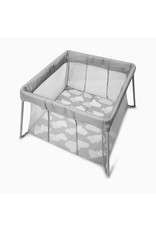 Skip Hop Play-to-Night Expandable Travel Crib, Grey/Clouds