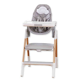 Skip Hop Sit-To-Step High Chair, Grey/White