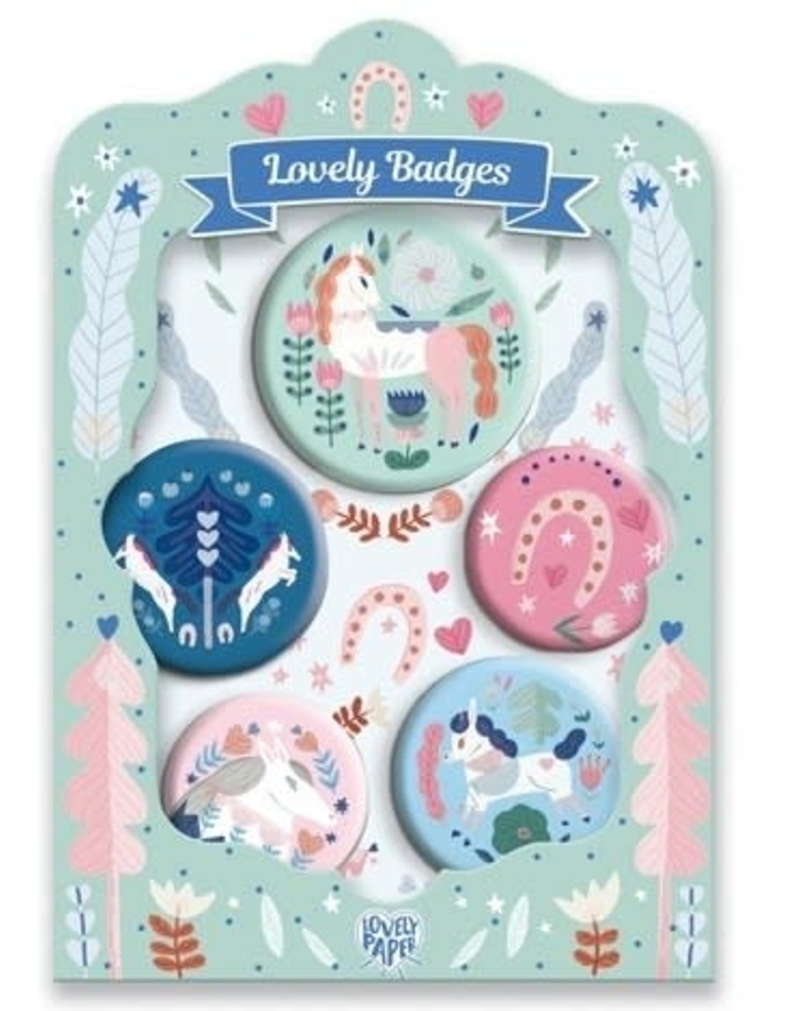 Djeco Lovely Badges, Horses