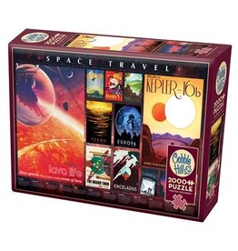 Cobble Hill 2000 pcs. Space Travel Posters Puzzle