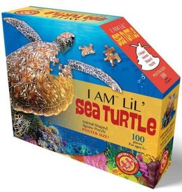 Madd Capp 100 Piece I Am Lil Sea Turtle Shaped Puzzle