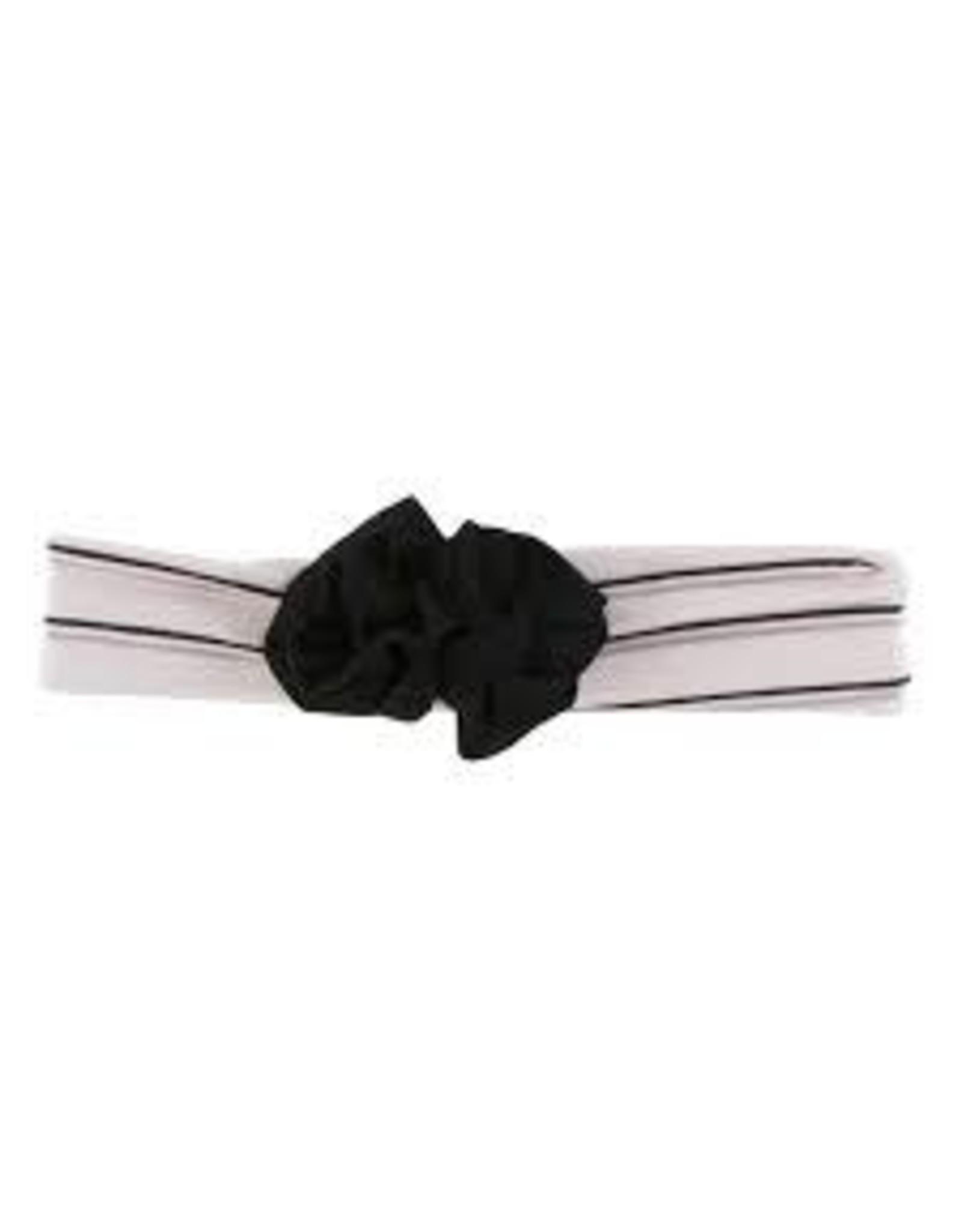 KicKee Pants Kickee Pants Flower Headband, Girl Parisian Stripe, One Size