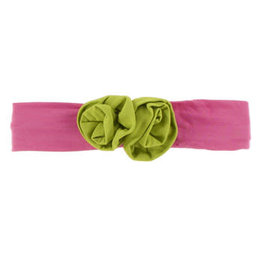 KicKee Pants Kickee Pants Solid Flower Headband, Flamingo with Meadow, One Size