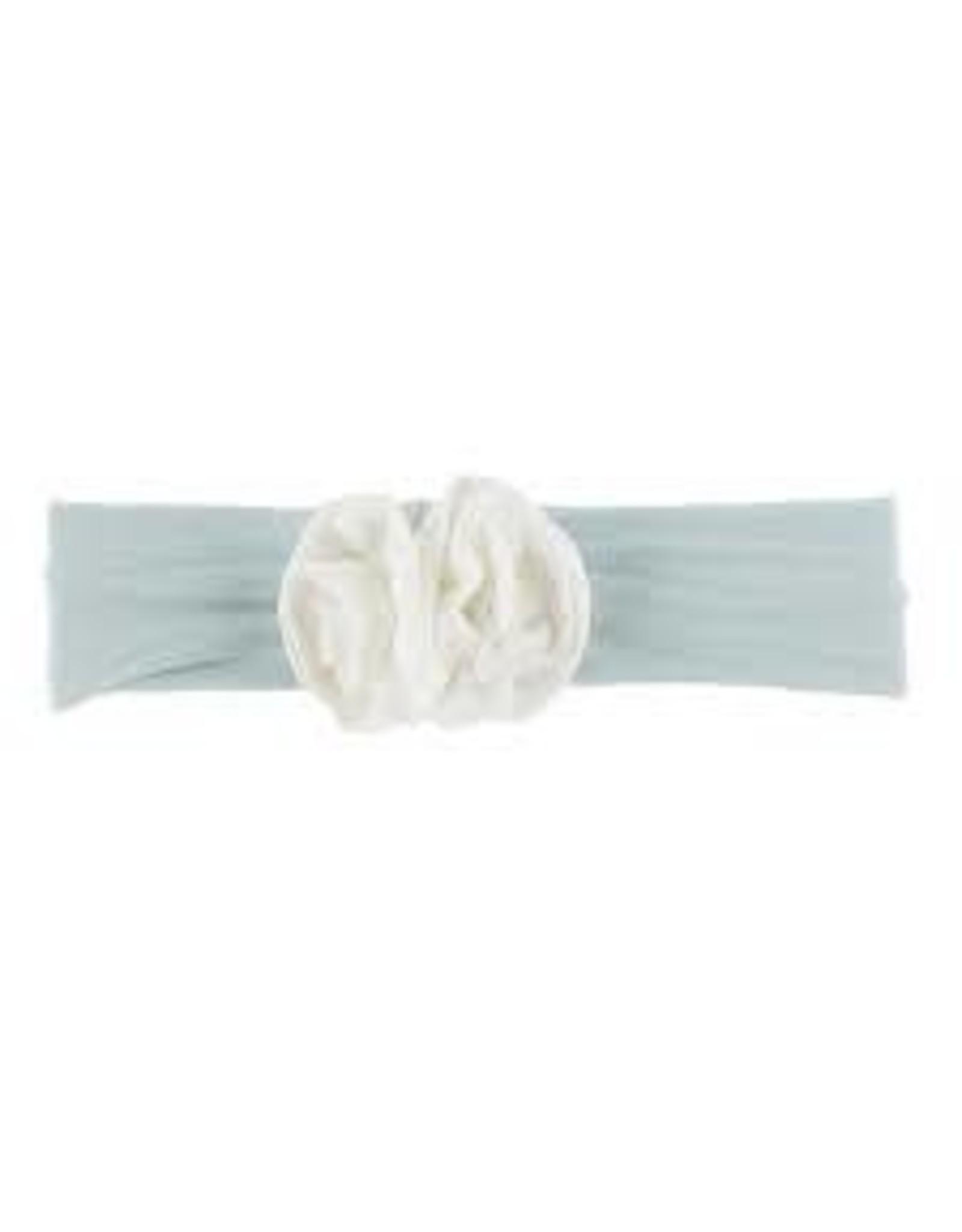 KicKee Pants Kickee Pants Solid Flower Headband, Spring Sky with Natural