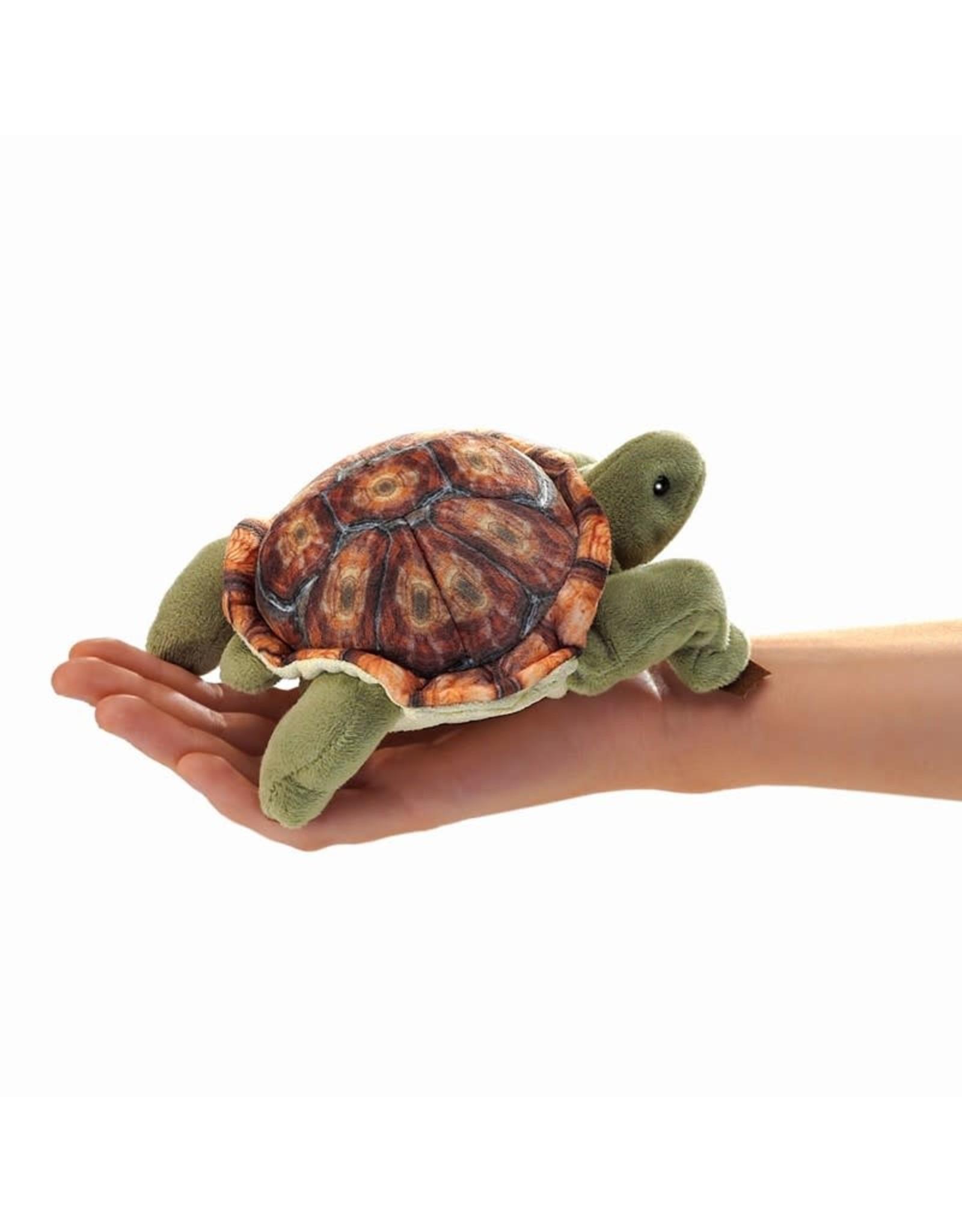 Folkmanis Mini Finger Puppet, Tortoise