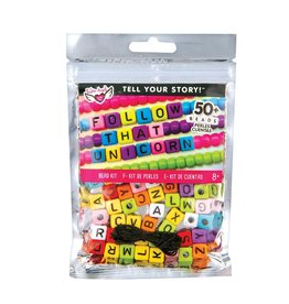 Fashion Angels Tell Your Story Alphabet Bead Bag, Rainbow Cubes
